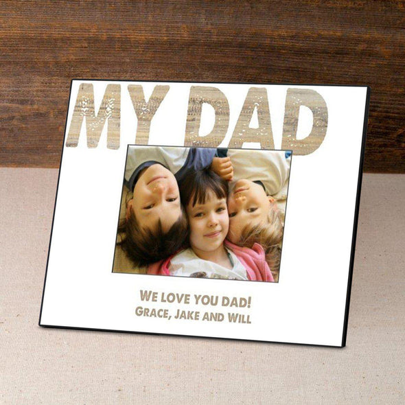 Personalized Father's Day Picture Frames - White - JDS