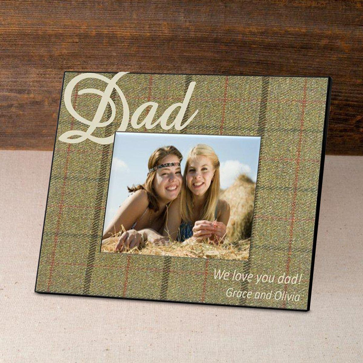 Personalized Father's Day Picture Frame - Tartan
