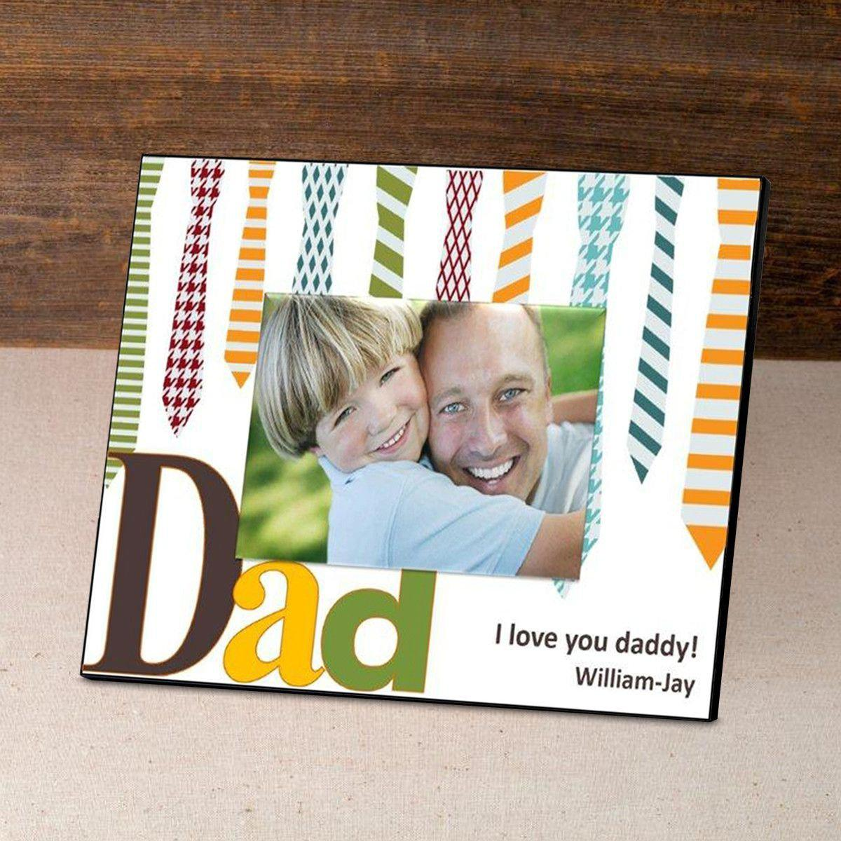 Personalized Father's Day Picture Frame - Ties