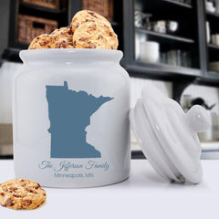 Personalized State Cookie Jar -  - Home Decor - AGiftPersonalized