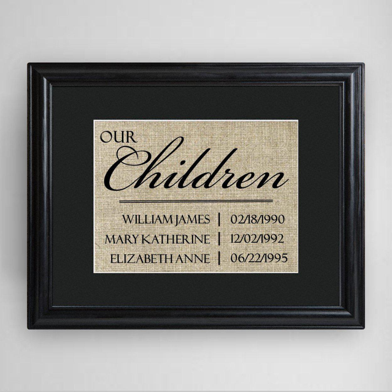 Personalized-Our-Children-Framed-Print