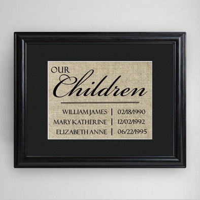 Personalized Our Children Framed Print -  - JDS