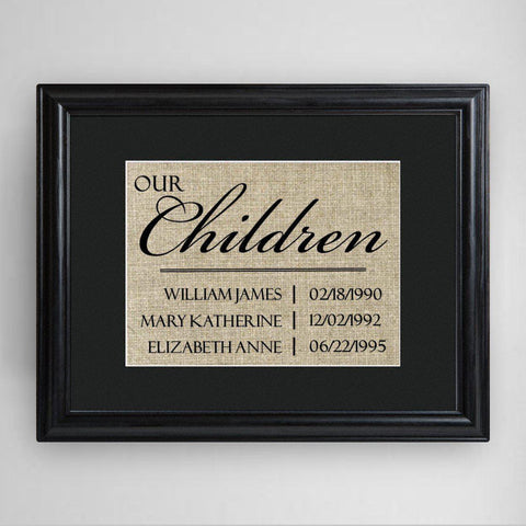 Personalized Our Children Framed Print -