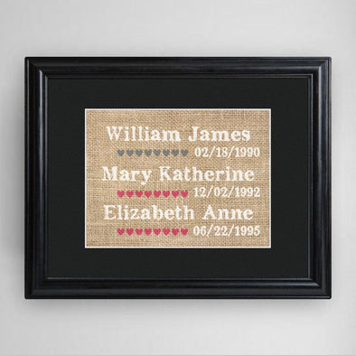 Personalized Our Kids Framed Print -  - JDS