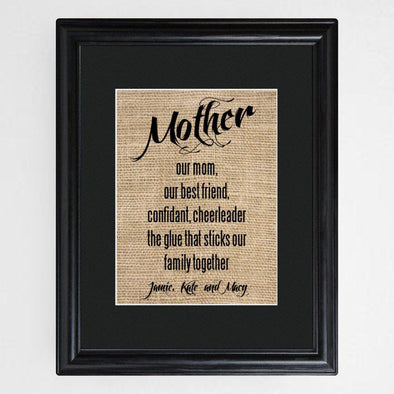 Personalized Mother's Framed Print -  - JDS