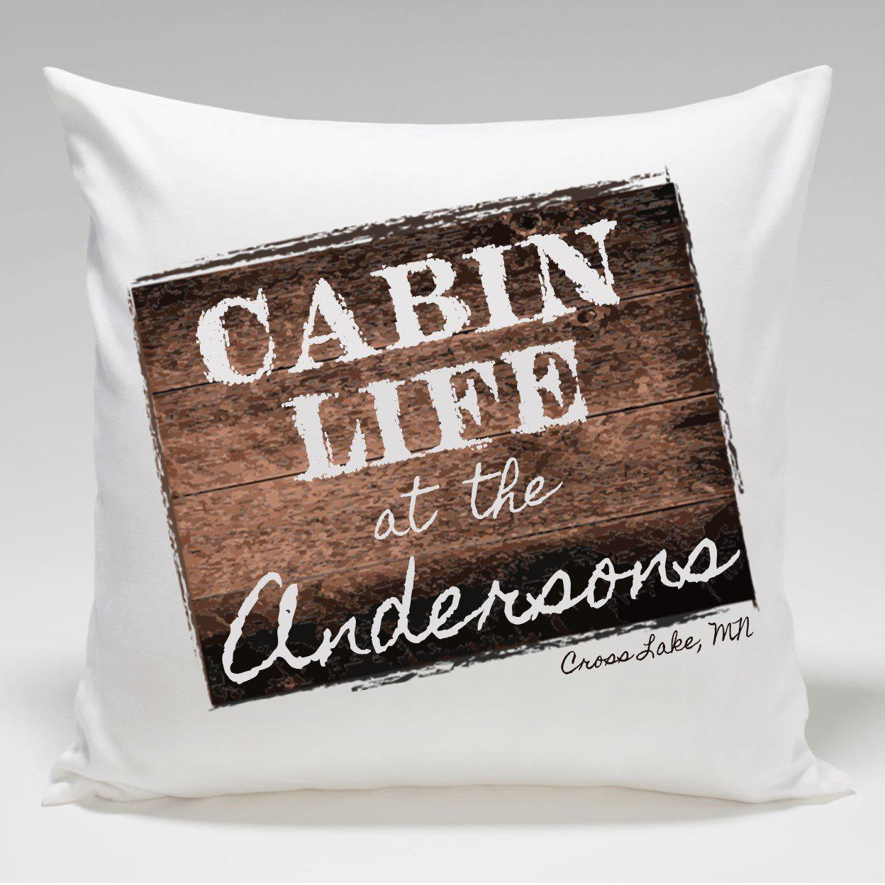 Personalized-Cabin-Throw-Pillow