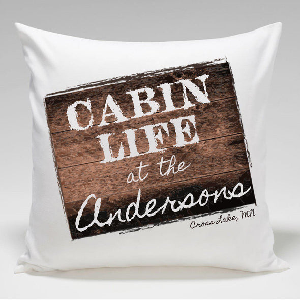 Personalized Cabin Throw Pillow - CabinLife - JDS