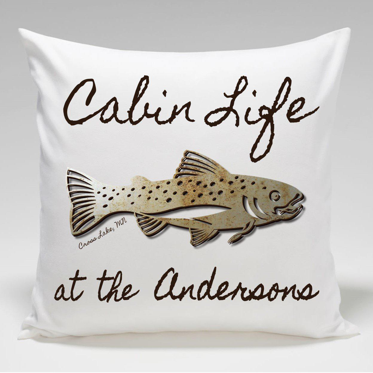 Customized Throw Pillows In Lagos : Personalized Cabin Throw Pillow