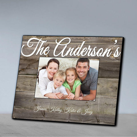 Personalized Family Picture Frame - Plank - Frames - AGiftPersonalized