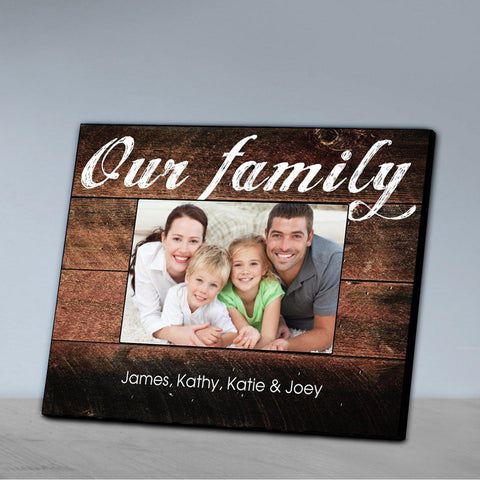 Personalized Family Picture Frame - All - Ourfamily - Frames - AGiftPersonalized
