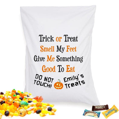 Personalized Halloween Treat Pillowcase - TrickorTreat - JDS
