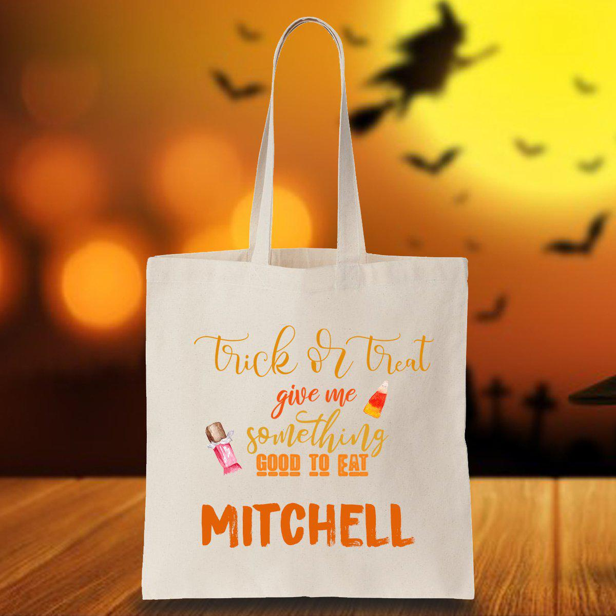 Personalized Halloween Trick or Treating Tote