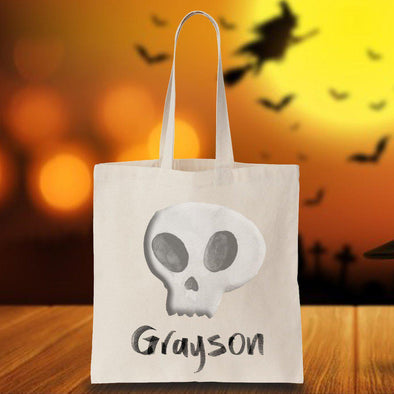 Personalized Skull Trick or Treating Tote -  - JDS