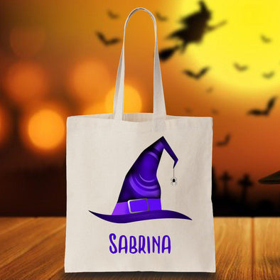 Personalized Halloween Witch Hat Trick or Treat Bag -  - JDS
