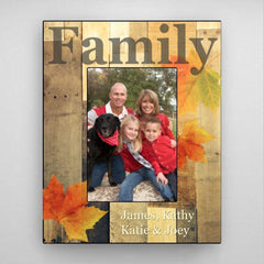 Personalized Family Fall Picture Frame - Leaves
