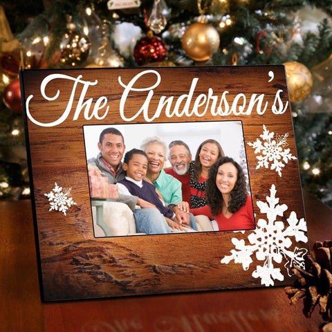 Personalized Family Rosewood Picture Frame -  - Frames - AGiftPersonalized