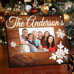Personalized Family Rosewood Picture Frame