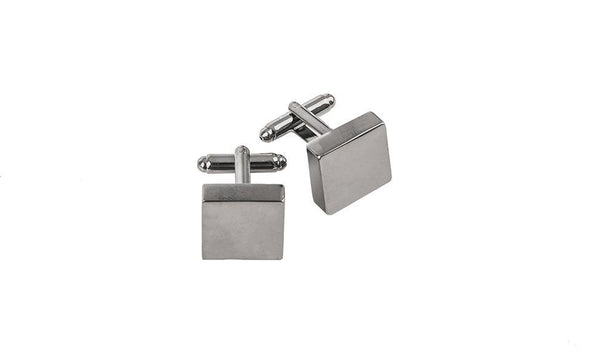 Personalized Square Gunmetal Cufflinks -  - JDS