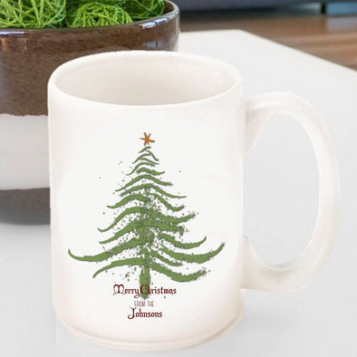 Personalized Vintage Holiday Coffee Mug - All - ChristmasTree - JDS