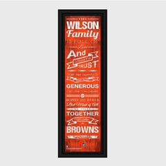 Personalized NFL Family Cheer Print & Frame - All NFL Team Available - Browns - Professional Sports Gifts - AGiftPersonalized