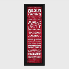 Personalized NFL Family Cheer Print & Frame - All NFL Team Available - Buccaneers