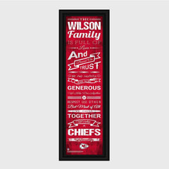 Personalized NFL Family Cheer Print & Frame - All NFL Team Available - Chiefs - Professional Sports Gifts - AGiftPersonalized