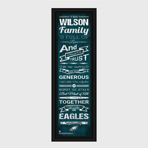 Personalized NFL Family Cheer Print & Frame - All NFL Team Available - Eagles
