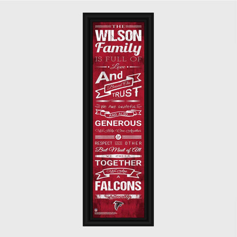 Personalized NFL Family Cheer Print & Frame - All NFL Team Available - Falcons