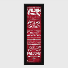 Personalized NFL Family Cheer Print & Frame - All NFL Team Available - Falcons - Professional Sports Gifts - AGiftPersonalized