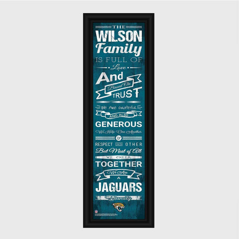 Personalized NFL Family Cheer Print & Frame - All NFL Team Available - Jaguars