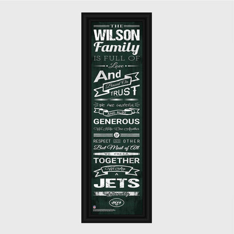 Personalized NFL Family Cheer Print & Frame - All NFL Team Available - Jets