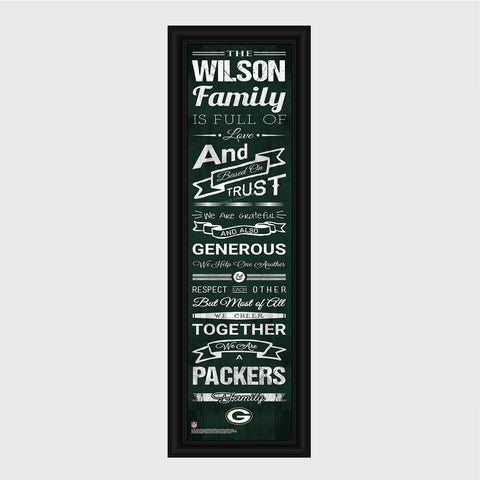 Personalized NFL Family Cheer Print & Frame - All NFL Team Available - Packers