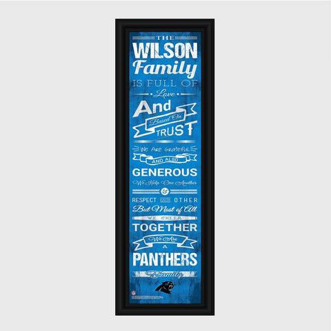 Personalized NFL Family Cheer Print & Frame - All NFL Team Available - Panthers - Professional Sports Gifts - AGiftPersonalized