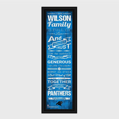 Personalized NFL Family Cheer Print & Frame - All NFL Team Available - Panthers