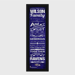 Personalized NFL Family Cheer Print & Frame - All NFL Team Available - Ravens - Professional Sports Gifts - AGiftPersonalized