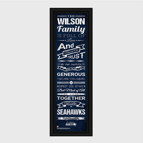 Personalized NFL Family Cheer Print & Frame - All NFL Team Available - Seahawks