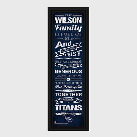 Personalized NFL Family Cheer Print & Frame - All NFL Team Available - Titans - Professional Sports Gifts - AGiftPersonalized