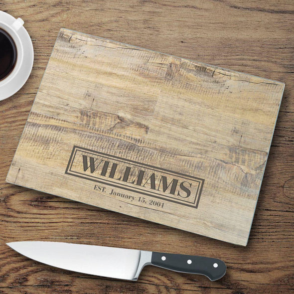 Personalized Wood Design Cutting Board - Rustic - JDS
