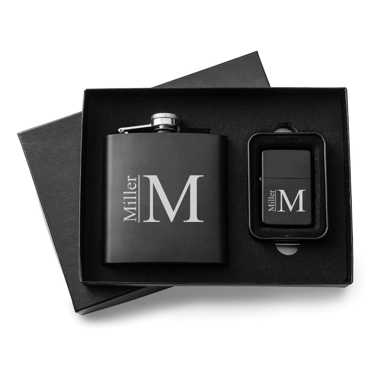 Personalized-Flasks-Personalized-Lighters-Gift-Set