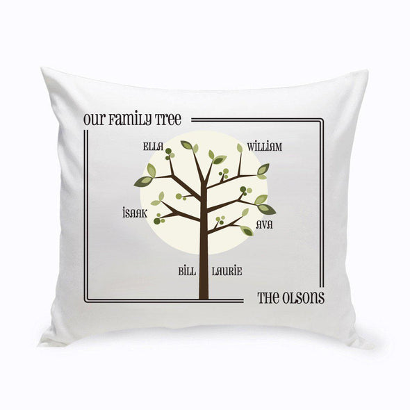 Personalized Family Tree Throw Pillow - Modern - JDS