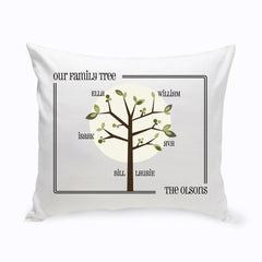 Personalized Family Tree Throw Pillow - Modern - Home Decor - AGiftPersonalized