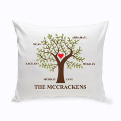 Personalized Family Tree Throw Pillow - Traditional - Home Decor - AGiftPersonalized