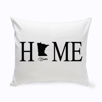 Personalized Home State Throw Pillows - Black - JDS
