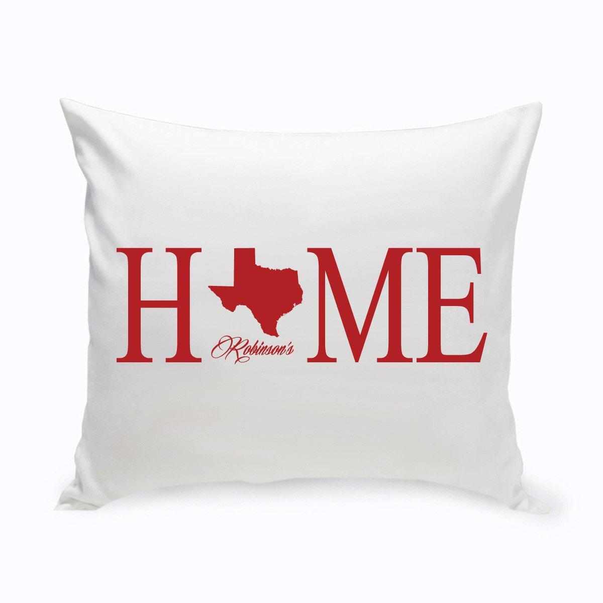 Personalized Home State Throw Pillows