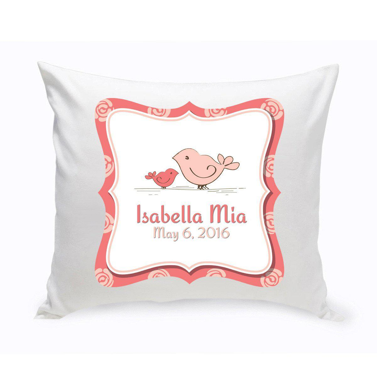 Throw Pillows Nairobi : Personalized Baby Nursery Throw Pillow - Birdies