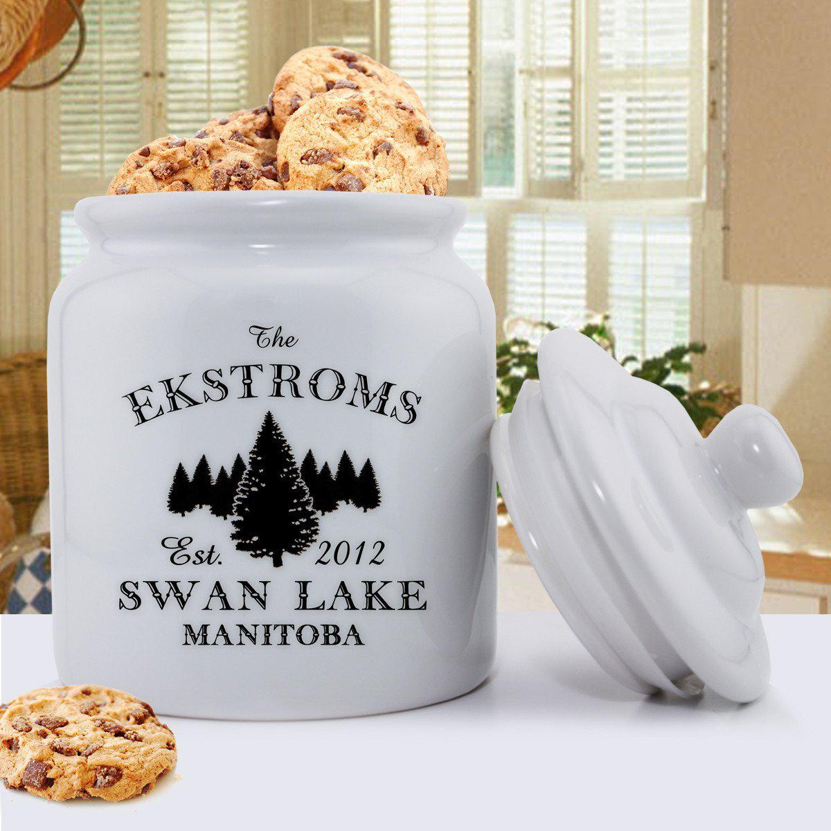 Personalized-Cabin-Series-Cookie-Jar