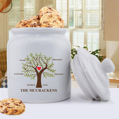 Personalized Family Tree Cookie Jar - Modern and Traditional Designs - Traditional - Home Decor - AGiftPersonalized