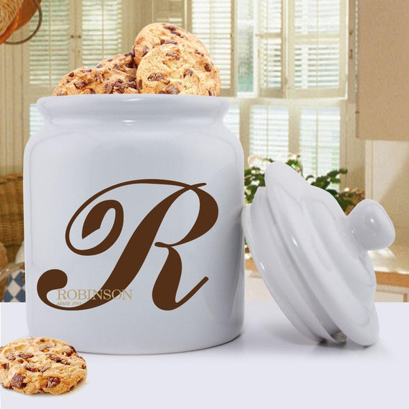 Personalized Monogrammed Family Initial Cookie Jar -  - JDS