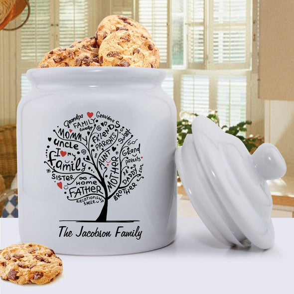 Personalized Family Roots Cookie Jar -  - JDS
