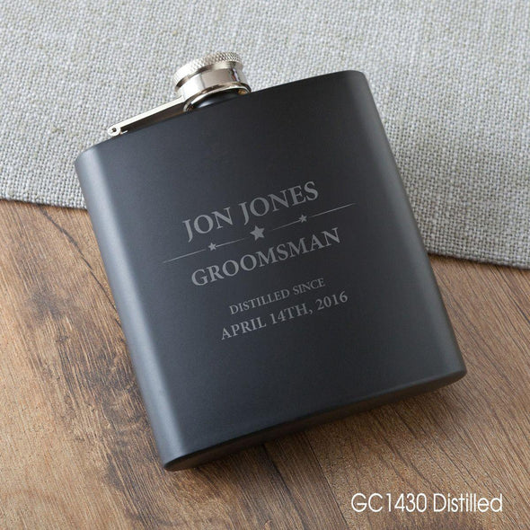 Personalized Groomsmen Flasks -  - JDS